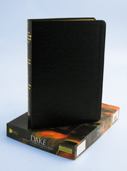 KJV Dake Annotated Reference Bible, Genuine leather, Black   -
