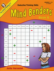 Mind Benders Book 6, Grades 7-12   -