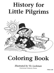 History for Little Pilgrims Coloring Book   -