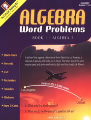 Algebra 1 Word Problems   -     By: Anita Harnadek