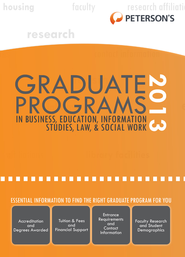 Graduate Programs in Business, Education, Health, Information Studies, Law & Social Work 2013 (Grad 6) - eBook  -     By: Peterson's
