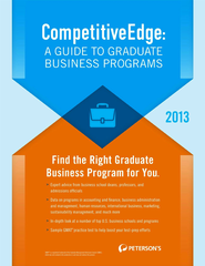 CompetitiveEdge:A Guide to Business Programs 2013 - eBook  -     By: Peterson's