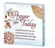 I Said a Prayer for You Today Glass Block  -