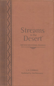 Streams In The Desert &#174: 366 Daily Devotional Readings, Italian Duo-Tone Walnut  -     By: L.B. Cowman, Jim G. Reimann