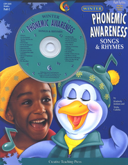Phonemic Awareness Songs & Rhymes: Winter Book & CD   -