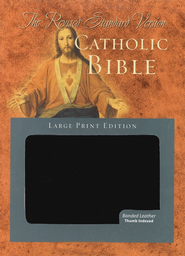 Revised Standard Version Catholic Bible, Large Print Edition, Black Bonded Leather  -