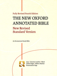 NRSV New Oxford Annotated Bible, 4th Edition, Black Genuine  Leather, Thumb-Indexed  -