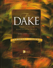 Dake Annotated Reference Bible, Compact Edition Softcover   -              By: Finis J. Dake