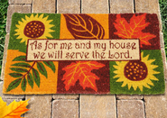As for Me and My House--Autumn Coir Welcome Mat   -
