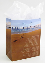 Footprints Gift Bag, Medium   -