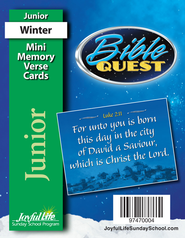 Bible Quest Junior (Grades 5-6) Mini Memory Verse  Cards  -