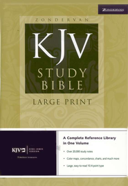 KJV Study Bible Large Print, Hardcover  -