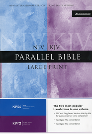 KJV & NIV Parallel Bible Hardcover, Large Print  -              By: Bible