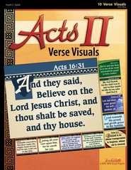 Acts II Ch. 13-28: Paul's Ministry, Youth 2 to Adult, Bible Study ,  Key Verses Visuals  -
