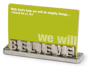 Believe Scripture Card Holder  -