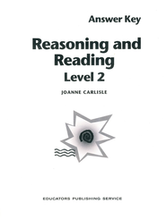 Reasoning & Reading Answer Key Level 2, Grades 7-8   -     By: Joanne Carlisle