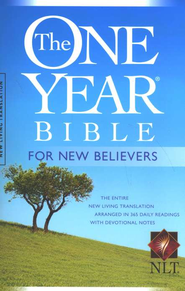 The NLT One-Year Bible for New Believers, softcover   -     Edited By: Livingstone