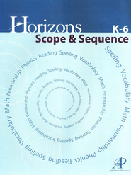 Horizons Math Scope & Sequence   -