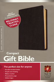 NLT Compact Gift Bible-Bonded Leather, Black  -