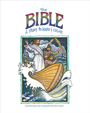 The Bible, a Story to Read and Color - eBook  -     By: Rusty Evans