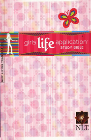 NLT Girls Life Application Bible, Hardcover   -
