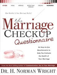 The Marriage Checkup Questionnaire  -     By: H. Norman Wright