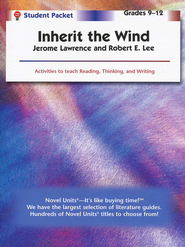 Inherit the Wind, Novel Units Student Packet, Grades 9-12   -     By: Jerome Lawrence