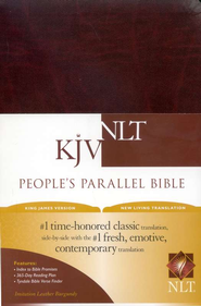 KJV/NLT People's Parallel Bible Burgundy Imitation Leather  -
