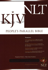 KJV/NLT People's Parallel Bible Burgundy Bonded Leather  -