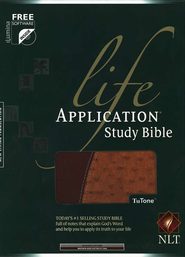 NLT Life Application Study Bible - TuTone brown/ostrich tan  -