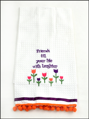 Friends. Embroidered Kitchen Towel   -