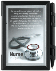 Nurse A Caring Heart Photo Note Pad with Pen  -