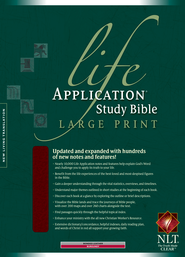 NLT Life Application Study Bible, Large Print Burgundy  Bonded Leather, Thumb-Indexed  -