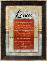Love Never Ends Framed Print  -