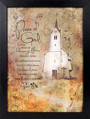 Praise God From Whom All Blessings Flow Framed Print  -
