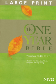 The NIV One Year Bible Premium Slimline - Large Print hardcover 1984  -