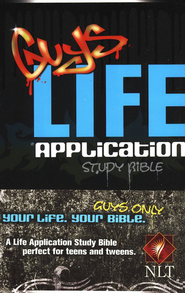 NLT Guys Life Application Study Bible - softcover edition  -