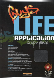 NLT Guys Life Application Study Bible - leatherlike onyx  -