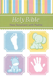 KJV Baby Bible New Testament with Psalms - Blue - Imperfectly Imprinted Bibles  -