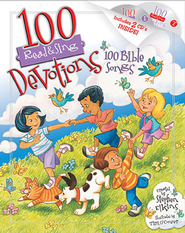 100 Devotions, 100 Bible Songs--Book and CDs   -     By: Stephen Elkins