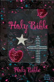 Sequin Bible- Black - Slightly Imperfect  -