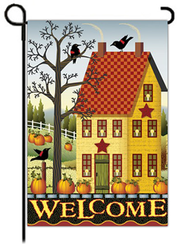 Welcome Salt Box House Flag, Small   -