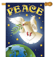Peace Dove Flag, Large   -