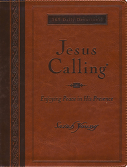 Jesus Calling, Large-Print Deluxe Edition--imitation leather, amber  -              By: Sarah Young