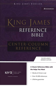 KJV Reference, bonded burgundy, indexed   -