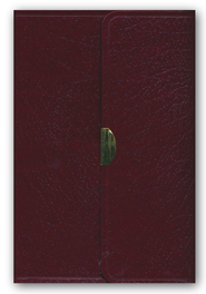 KJV Compact Reference Bible, Button Flap, Immitation Burgundy Leather  -