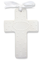 Sweet and Simple Cross, Personalize, White  -