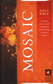 NLT Holy Bible, Mosaic Edition--hardcover   -