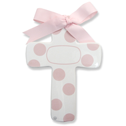 Bubble Dot Cross, Personalize, Pink  -