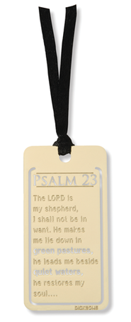 Psalm 23, Mini Metal Bookmark   -